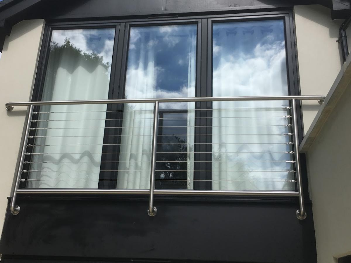 Wired juliet balcony with stainless frames