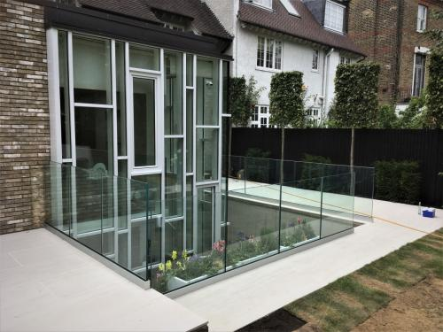 Balcony Installations designed and fitted frameless glass balustrades
