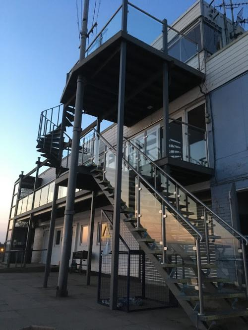 Complete set of balustrades at sailing club by Balcony Installations
