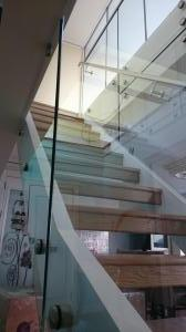 Side fixed glass balustrades